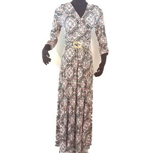 J. Jill Boho Floral Jewel Print Maxi Dress